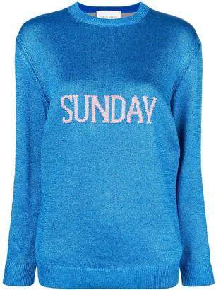 Alberta Ferretti Sunday intarsia knit sweater