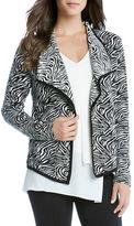 Karen Kane Zebra Printed Open-Front Jacket