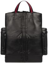 Gucci Black Bee Leather Backpack