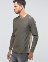 Replay Chunky Knit Sweater with Size Zip