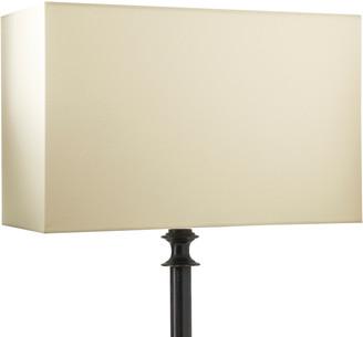 OKA 35cm Rectangular Cotton Lampshade - White