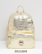 Versace Gold Metallic Backpack