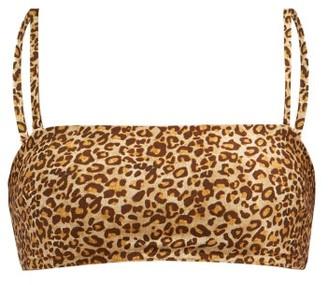 Zimmermann Empire Leopard-print Bandeau Bikini Top - Leopard