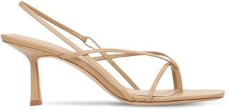Studio Amelia 75mm Flip Flop Leather Thong Sandals
