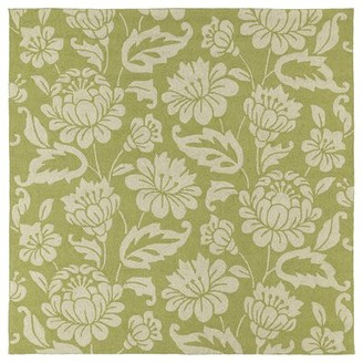 Glenn Charlton Home Floral Handmade Tufted Green Area Rug Charlton Home Rug Size: Rectangle 4' x 6'