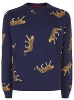 Ps By Paul Smith Cheetah Printed Sweater