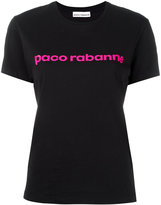Paco Rabanne logo print T-shirt - women - Cotton - L