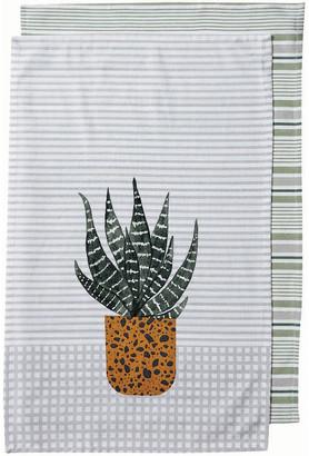 Ladelle Revive Plants Cactus 2pk Kitchen Towel