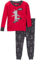 Petit Lem Yeah! Wolf Long Sleeve Pajama Set (Baby Boys)