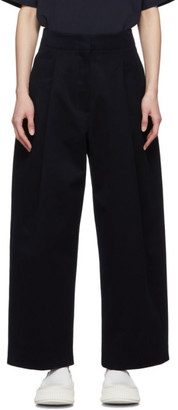 Studio Nicholson Navy Dordoni Volume Trousers