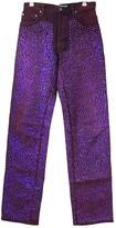 Acne Studios Purple Cotton Jeans