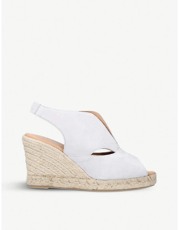 Carvela Comfort Sara suede espadrille wedge sandals