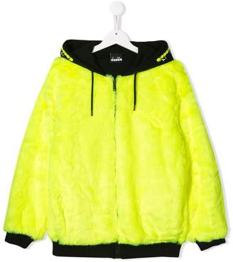 Diadora Junior faux fur hooded coat