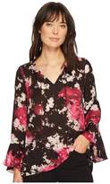 Ellen Tracy Full Sleeve Blouse with Tie Women's Blouse