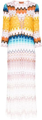 Missoni Mare deep V-neck kaftan maxi dress