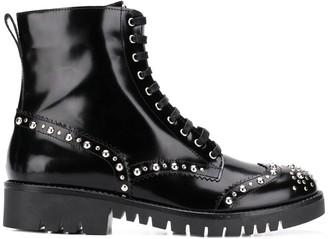 McQ Bess stud derby boots