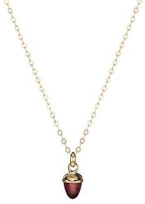 Tamara Comolli My Mikado 18K Yellow Gold & Rose Tourmaline Acorn Pendant Necklace