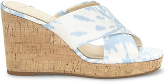 Jessica Simpson Women's Seena Platform Wedges Bright White Combo Size 5 Acrylic From Sole Society
