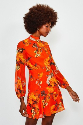 Karen Millen Floral Print Mini Dress