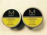 Paul Mitchell Men by Mitch Clean Cut Medium Hold/Semi-Matte Styling (Set of 2) 3oz each