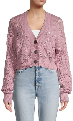 Free People Chloe Knit Button-Up Cardigan
