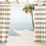 west elm Outdoor Stripe Curtains - Beechwood