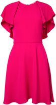 Monique Lhuillier flared dress - women - Silk - 2