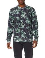 Scotch & Soda Men's Crewneck Sweat with Toile-de-jouy Logo All-Over Print Sweatshirt