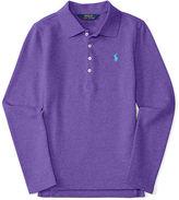Ralph Lauren Long-Placket Cotton Polo