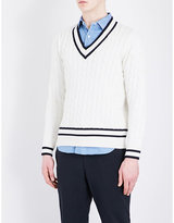 United Arrows Cable-knit cotton-blend jumper