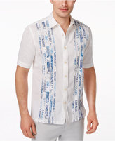 Tasso Elba Men's Linen Short-Sleeve Shirt, Only at Macy's