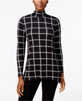 Style&Co. Style & Co. Petite Printed Mock-Neck Top, Only at Macy's