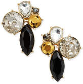 ABS by Allen Schwartz Gold-Tone Dark Horse Cluster Earrings