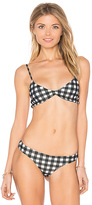 Bettinis Triangle Top in Black. - size L (also in M,S)