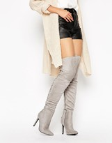 Truffle Collection Lace Up Over Knee Boot
