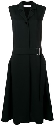 Victoria Beckham Sleeveless Belted Midi Dress