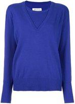 Maison Margiela cashmere layered pullover sweater
