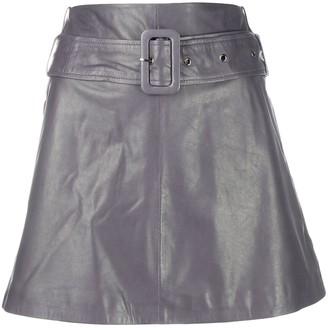 Arma high-rise A-line mini skirt