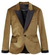 MANGO Slim-fit velvet suit blazer