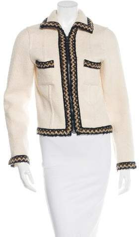 Chanel Bouclé-Trimmed Wool & Alpaca Jacket