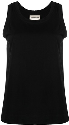 Semi-Couture Sleeveless Cotton Top