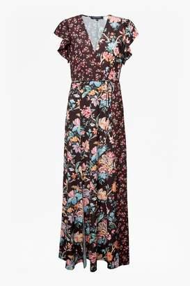 French Connection Bridget Crepe Mix Print Dress