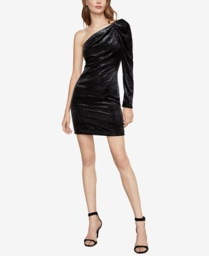 BCBGMAXAZRIA Shimmer Velvet Mini Dress
