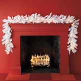 JCPenney General Foam Plastics 9' Pre-Lit White Alaskan Fir Garland