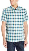 Nautica Men's Plaid Short Sleeve Shirt