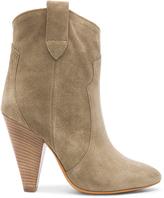 Etoile Isabel Marant Roxann Calfskin Velvet Leather Booties