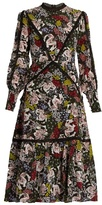 Erdem Orianna Dietrich Garden-print silk-crepe dress