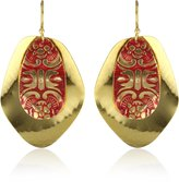 Sibilia Cascarudos Over 24K Gold Plated Earrings