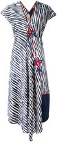 Antonio Marras striped print embroidered dress - women - Cotton/Polyester/Viscose - 46