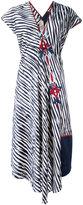 Antonio Marras striped print embroidered dress